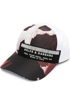 Dolce & Gabbana Painted camo logo cap