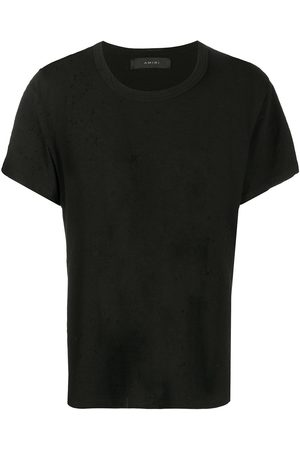 AMIRI Ripped-detailed cotton t-shirt