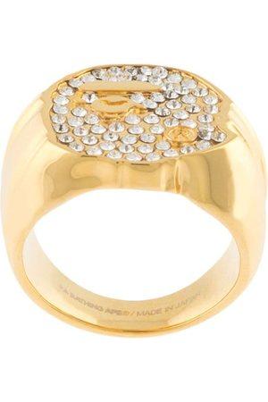 A Bathing Ape Rhinestone-embellished ring
