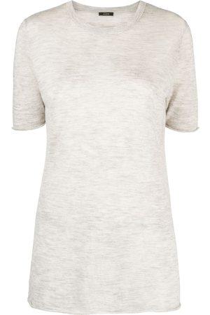 Joseph Marled-effect short-sleeve T-shirt - Grey