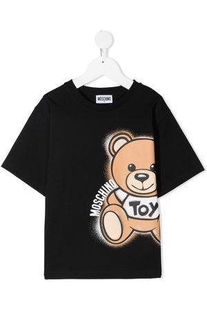 Moschino TEEN bear logo print T-shirt