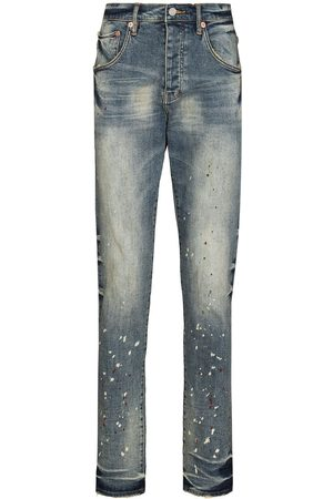 Purple Brand Vintage Spotted tapered-leg jeans
