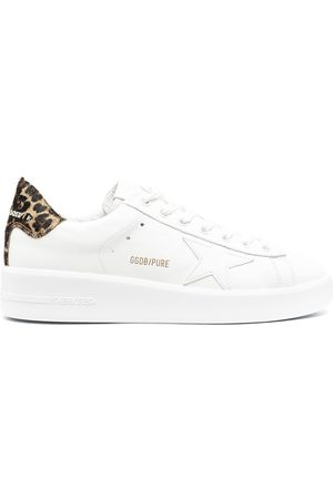 Golden Goose Leopard print-detail lace-up trainers