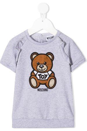 Moschino Crochet-embellished teddy bear dress - Grey