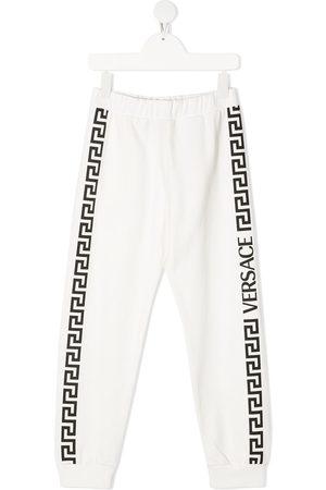 VERSACE Boys Sweatpants - Logo print track pants