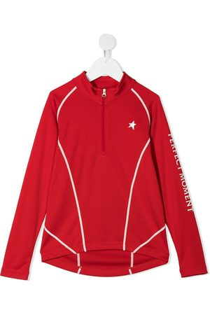 Perfect Moment Zip-up long-sleeved thermal T-shirt