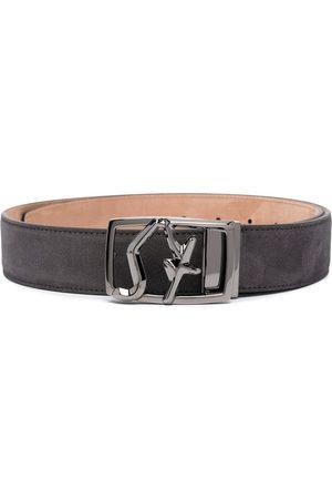 Salvatore Ferragamo Adjustable engraved buckle belt