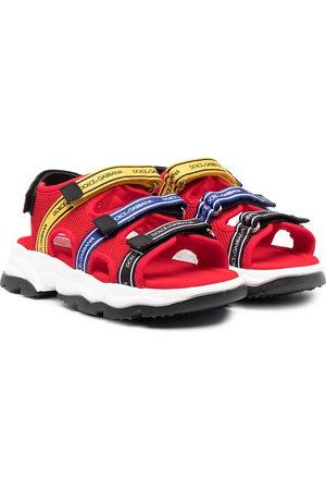 Dolce & Gabbana Boys Sandals - Logo-tape mesh sandals