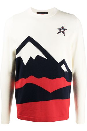 Perfect Moment Men Sweatshirts - Embroidered logo merino sweater - Neutrals