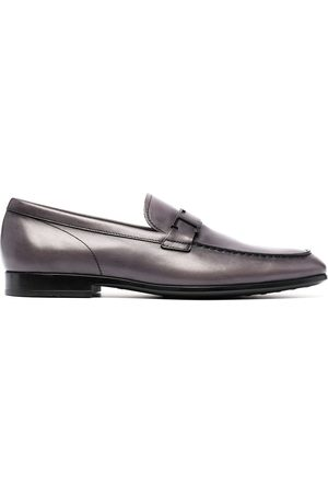 Tod's T-logo plaque loafers - Grey