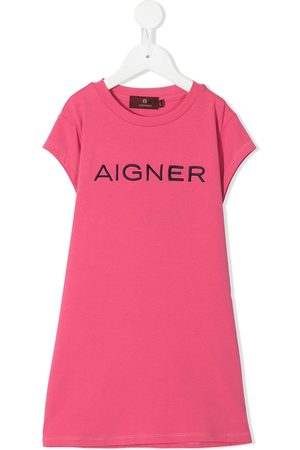Aigner Girls Casual Dresses - Logo-embroidered T-shirt dress