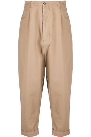 Ami Cropped chino trousers - Neutrals