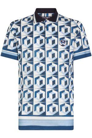Dolce & Gabbana Geometric print polo shirt