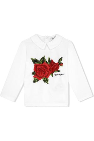 Dolce & Gabbana Rose-embroidered blouse