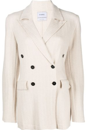 Barrie Double breasted cashmere jacket - Neutrals