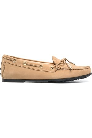 Tod's Flat lace-up moccasins - Neutrals