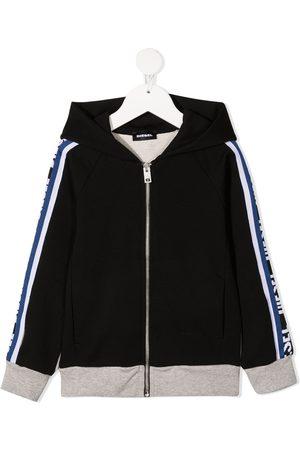 Diesel Side logo hooded jacket