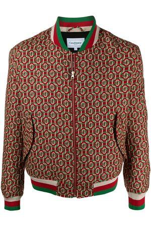 Casablanca Full jacquard bomber jacket