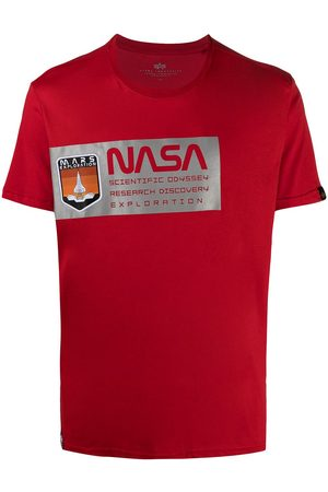Alpha Industries Men T-shirts - Nasa-motif cotton T-shirt