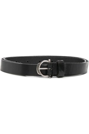 Saint Laurent Round-buckle belt