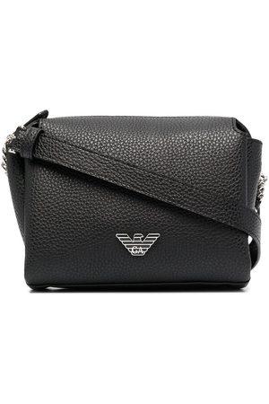 Emporio Armani Women Shoulder Bags - Logo-plaque pebbled cross body bag