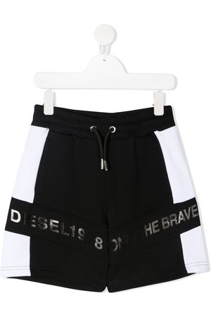 Diesel Colour-block cotton shorts