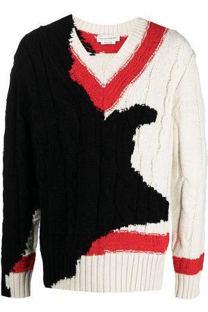 Alexander McQueen Patterned intarsia-knit jumper