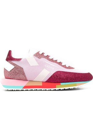 Ghoud Colour-block panelled low-top sneakers