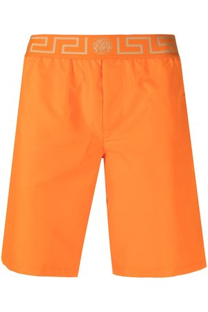 VERSACE Men Swim Shorts - Grecca waistband swimming shorts