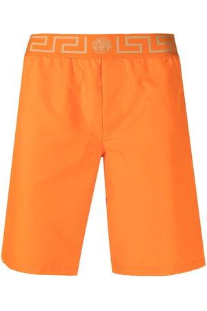 VERSACE Men Swim Shorts - Grecca waistband swimming shorts