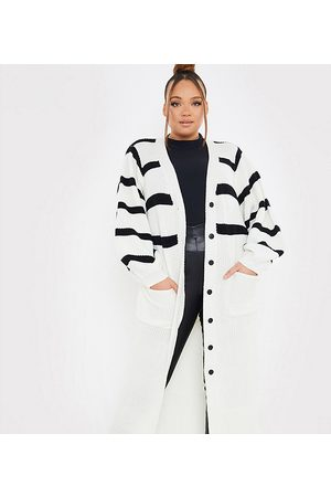 In The Style X Lorna Luxe long line cardigan with contrast stripe in