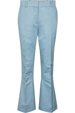 Marni Women Wide Leg Pants - Cotton and linen flared pants