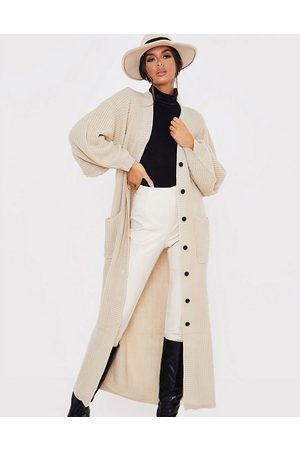In The Style X Lorna Luxe long line cardigan in camel-Tan