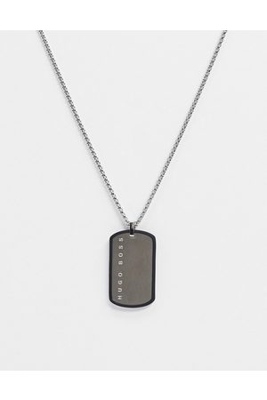 HUGO BOSS Hugo neckchain in with silicone wrapped dog tag