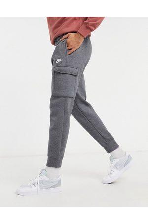 Nike Club cuffed cargo sweatpants in dark -Grey