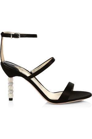 SOPHIA WEBSTER Women's Rosalind Embellished-Heel Satin Sandals - Satin - Size 41 (11)