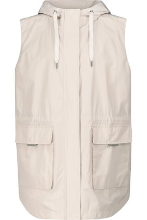 Brunello Cucinelli Women Gilets - Hooded taffeta vest