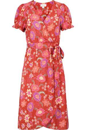 Velvet Women Printed Dresses - Meadow floral wrap dress