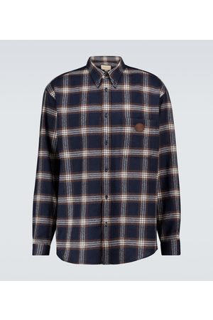 Gucci Men Long sleeves - Long-sleeved checked shirt
