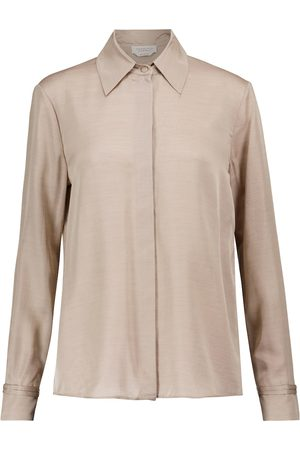 GABRIELA HEARST Women Long sleeves - Jaq silk and cashmere shirt