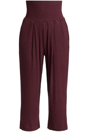 NSF Women's Russ High-Rise Pleated Pants - Syrah - Size XS