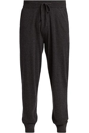 Saks Fifth Avenue Men's COLLECTION Lightweight Cashmere Joggers - Anthracite - Size Large