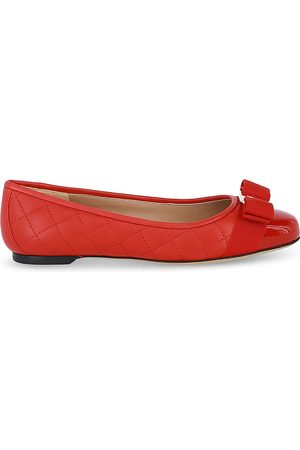 Salvatore Ferragamo Women's Varina Quilted Leather Cap Toe Ballet Flats (41% off) - Comparable value $595