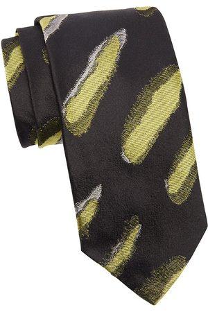 DRIES VAN NOTEN Men's Graphic Silk Tie