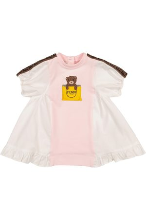 Fendi Baby logo cotton-blend dress