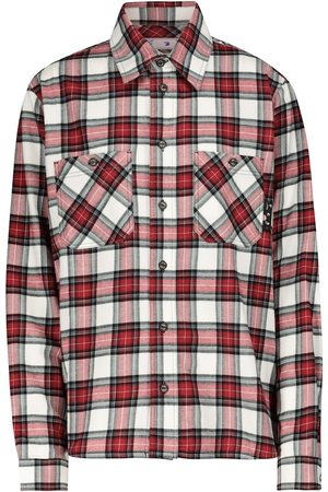 OFF-WHITE Women Long sleeves - Checked cotton flannel shirt