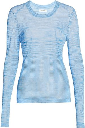 Isabel Marant Women's Anita Printed Top - Light - Size 36 (4)