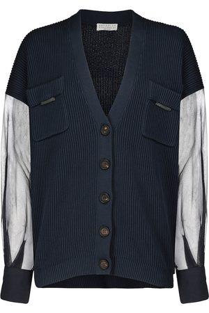 Brunello Cucinelli Cotton and silk cardigan