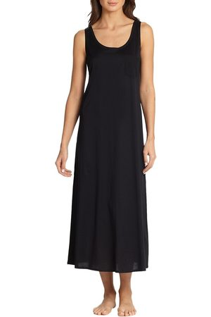 Hanro Women's Cotton Deluxe Long Tank Gown - - Size Medium