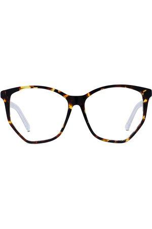 Dior Women's 56MM Spirit Butterfly Eyeglasses - Havana Crystal